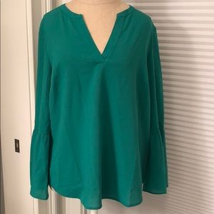NWT J Crew Green Blouse